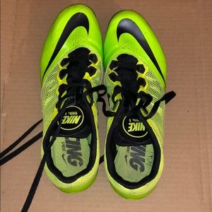 Neon Yellow Nike Sprint Spikes